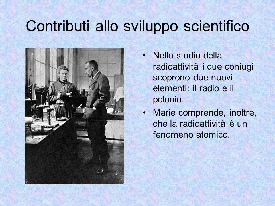 Contributi allo sviluppo scientifico