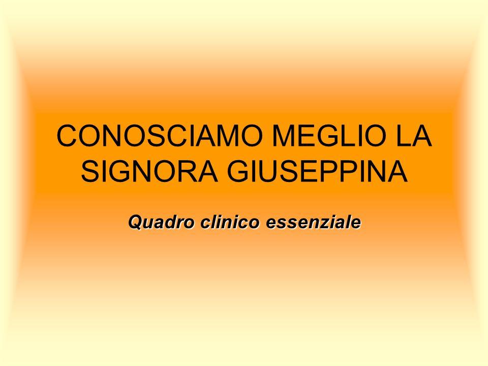 CONOSCIAMO MEGLIO LA SIGNORA GIUSEPPINA