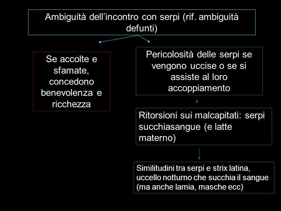 Ambiguità dell'incontro con serpi (rif. ambiguità defunti)