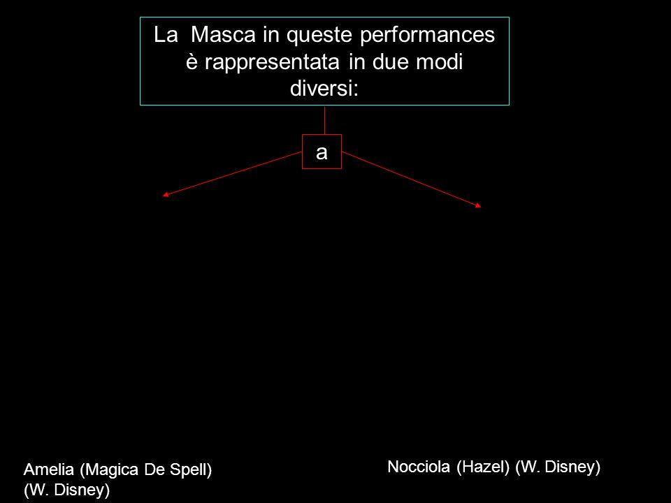 La Masca in queste performances è rappresentata in due modi diversi: