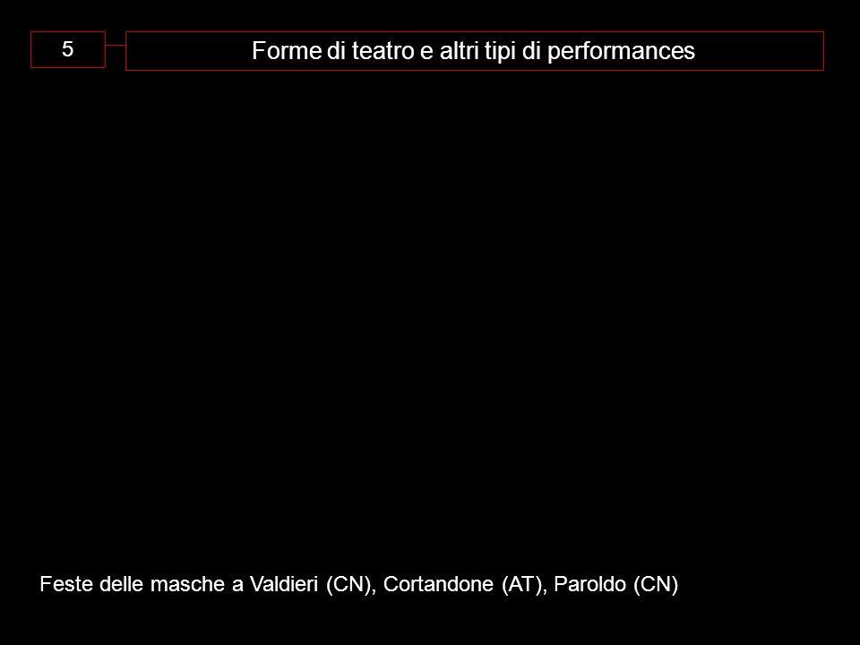Forme di teatro e altri tipi di performances
