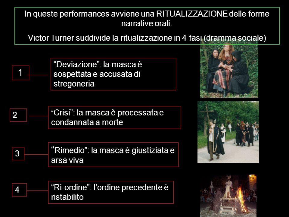 Victor Turner suddivide la ritualizzazione in 4 fasi (dramma sociale)