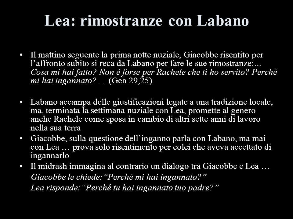 Lea: rimostranze con Labano