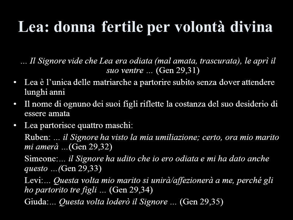 Lea: donna fertile per volontà divina