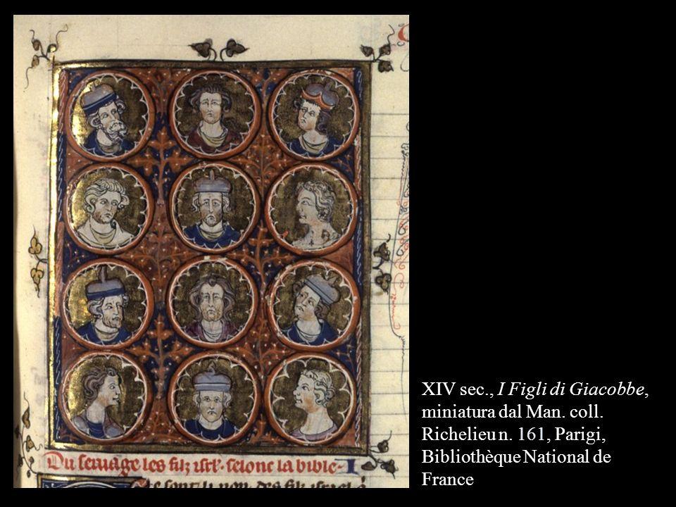 XIV sec. , I Figli di Giacobbe, miniatura dal Man. coll. Richelieu n