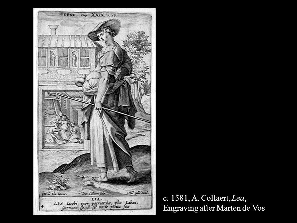 c. 1581, A. Collaert, Lea, Engraving after Marten de Vos