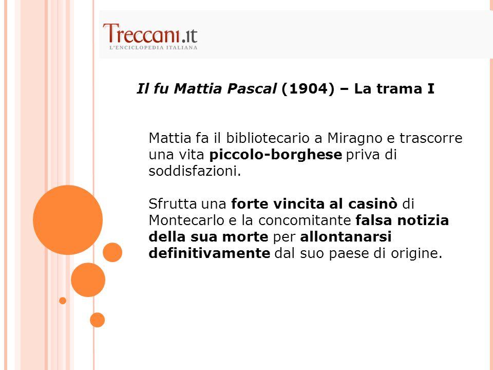 Il fu Mattia Pascal (1904) – La trama I