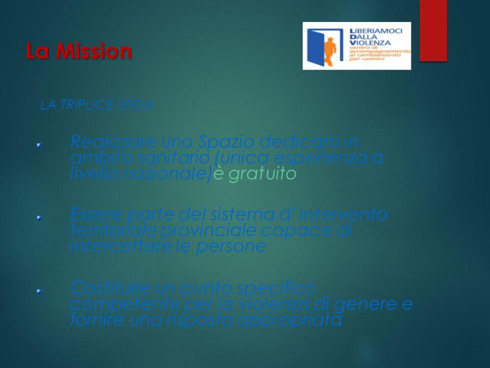 La Mission LA TRIPLICE SFIDA. Realizzare uno Spazio dedicato in ambito sanitario (unica esperienza a livello nazionale)è gratuito.
