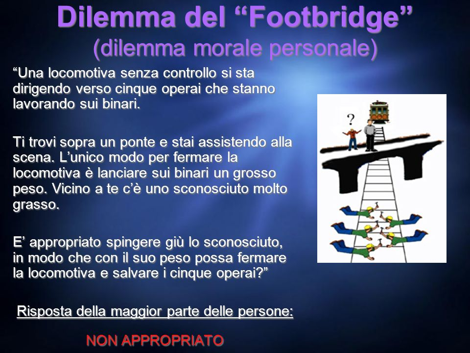 Dilemma del Footbridge (dilemma morale personale)