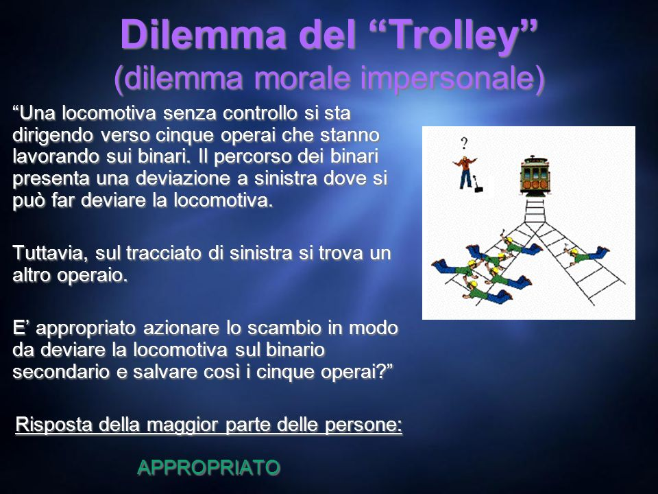 Dilemma del Trolley (dilemma morale impersonale)