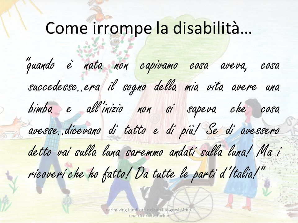 Come irrompe la disabilità…
