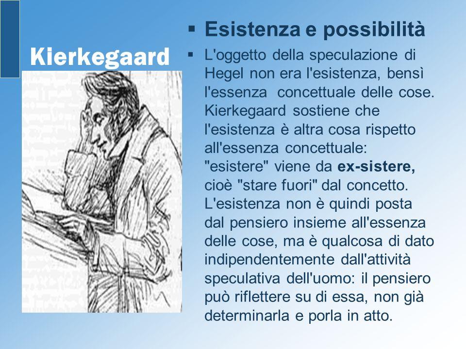 Kierkegaard Esistenza e possibilità