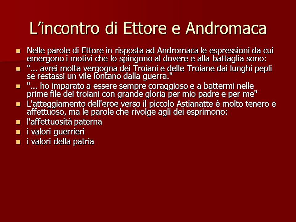 L'incontro di Ettore e Andromaca