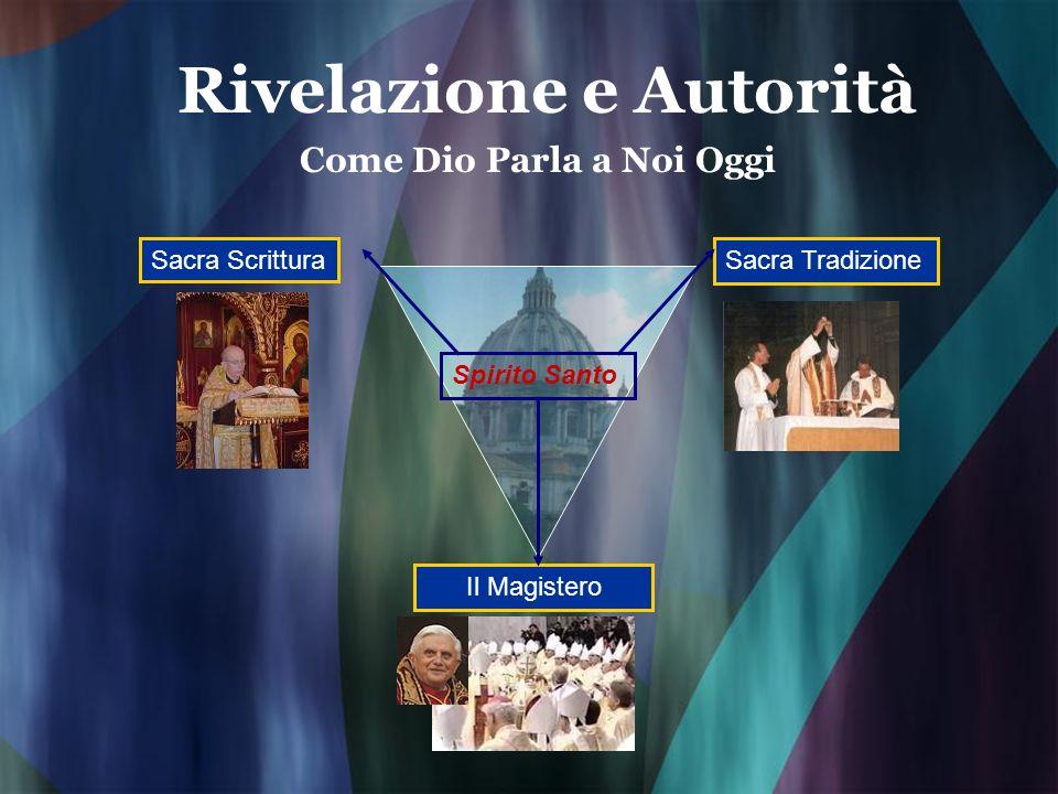 Rivelazione e Autorità