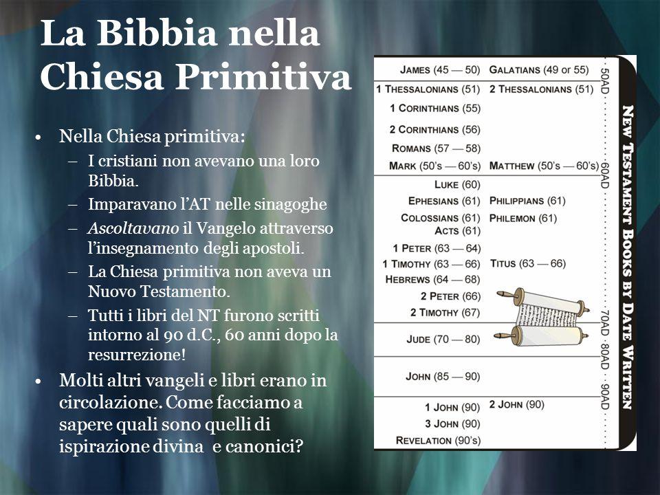 La Bibbia nella Chiesa Primitiva