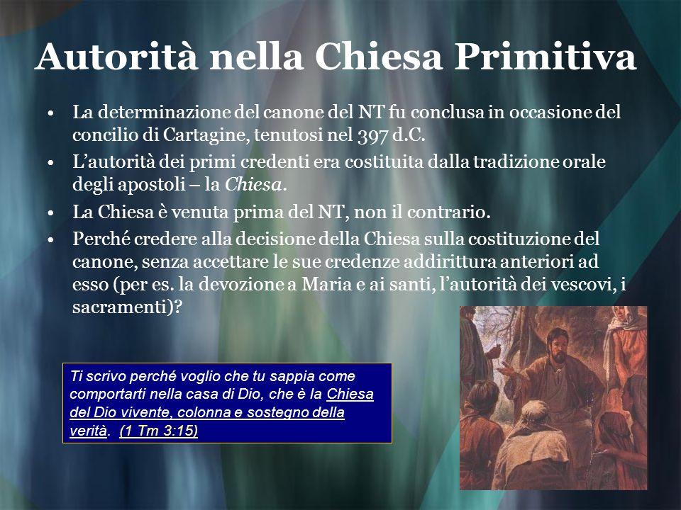 Autorità nella Chiesa Primitiva