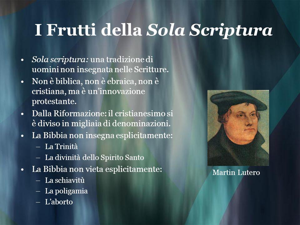 I Frutti della Sola Scriptura