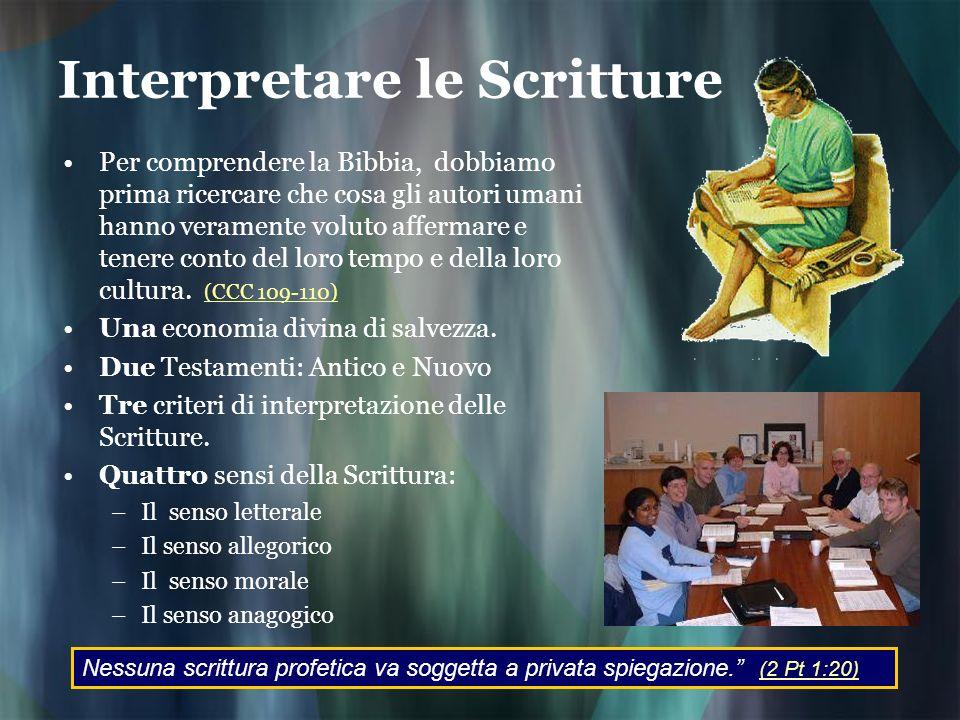 Interpretare le Scritture