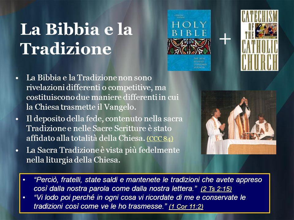 La Bibbia e la Tradizione