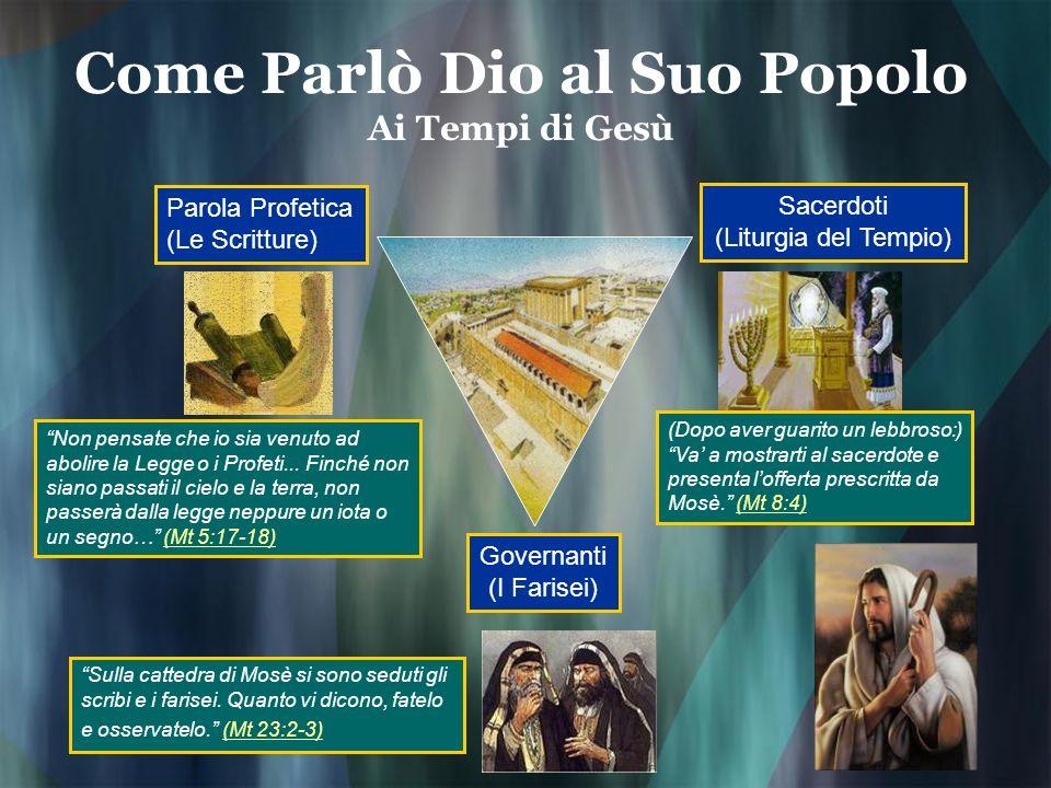 Come Parlò Dio al Suo Popolo Ai Tempi di Gesù