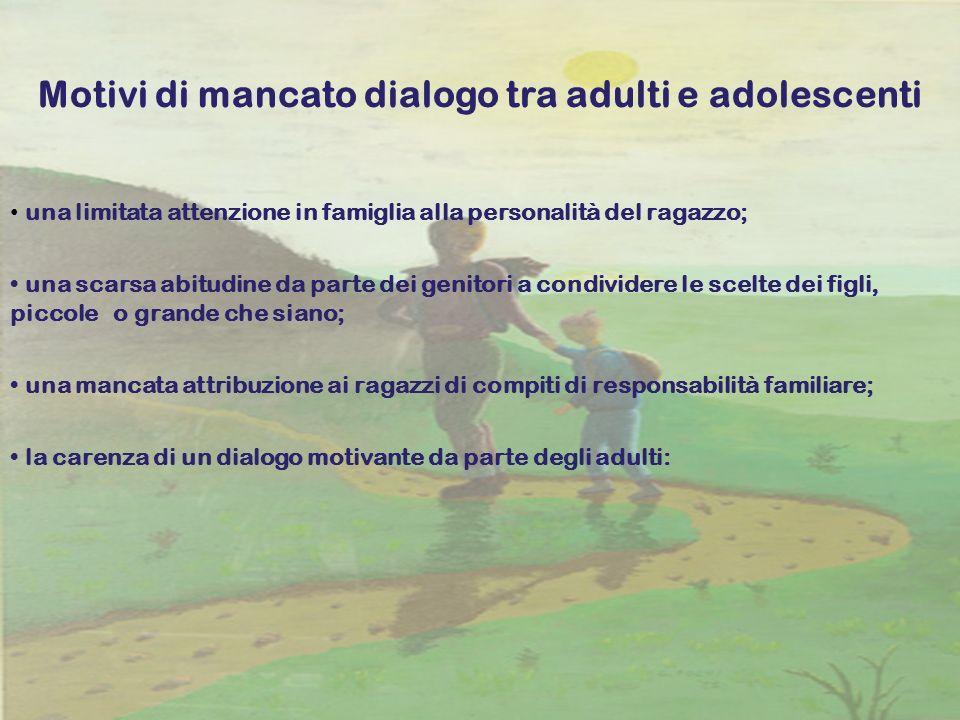 Motivi di mancato dialogo tra adulti e adolescenti