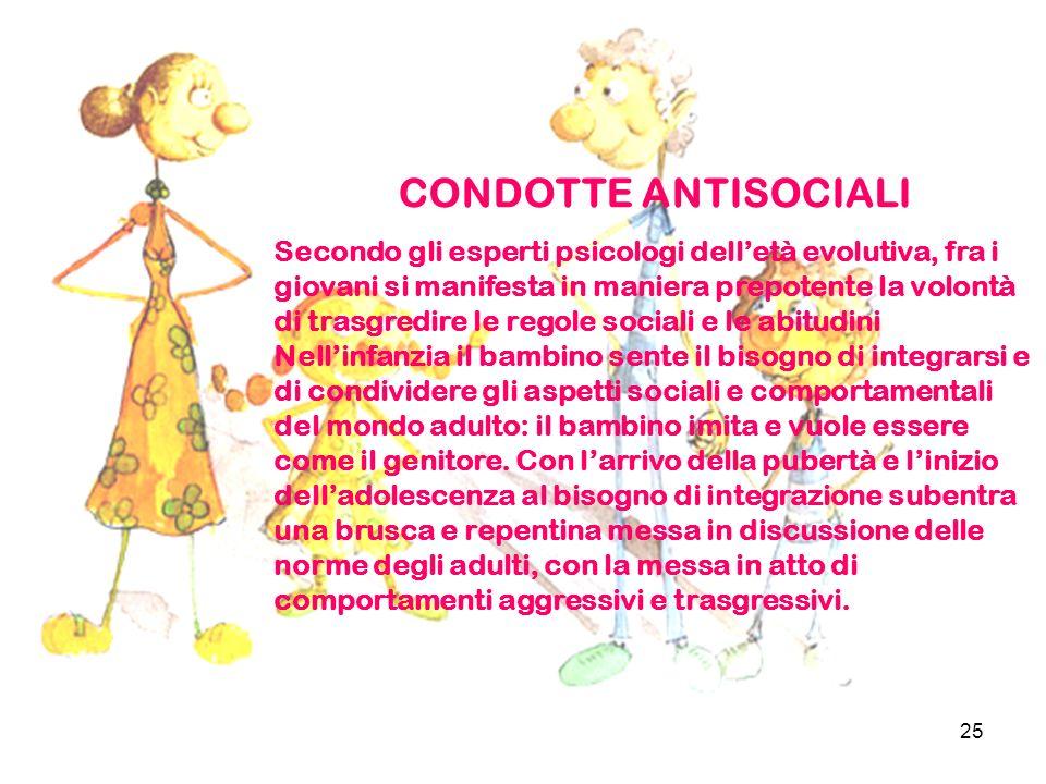 CONDOTTE ANTISOCIALI