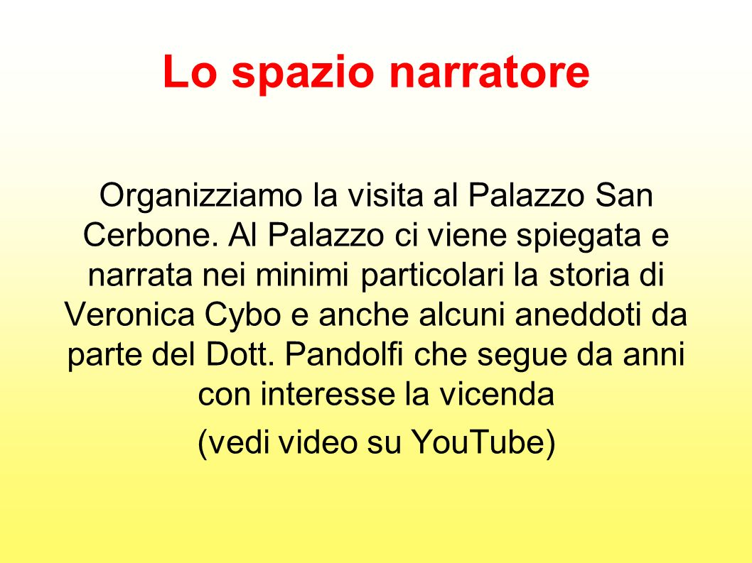 (vedi video su YouTube)