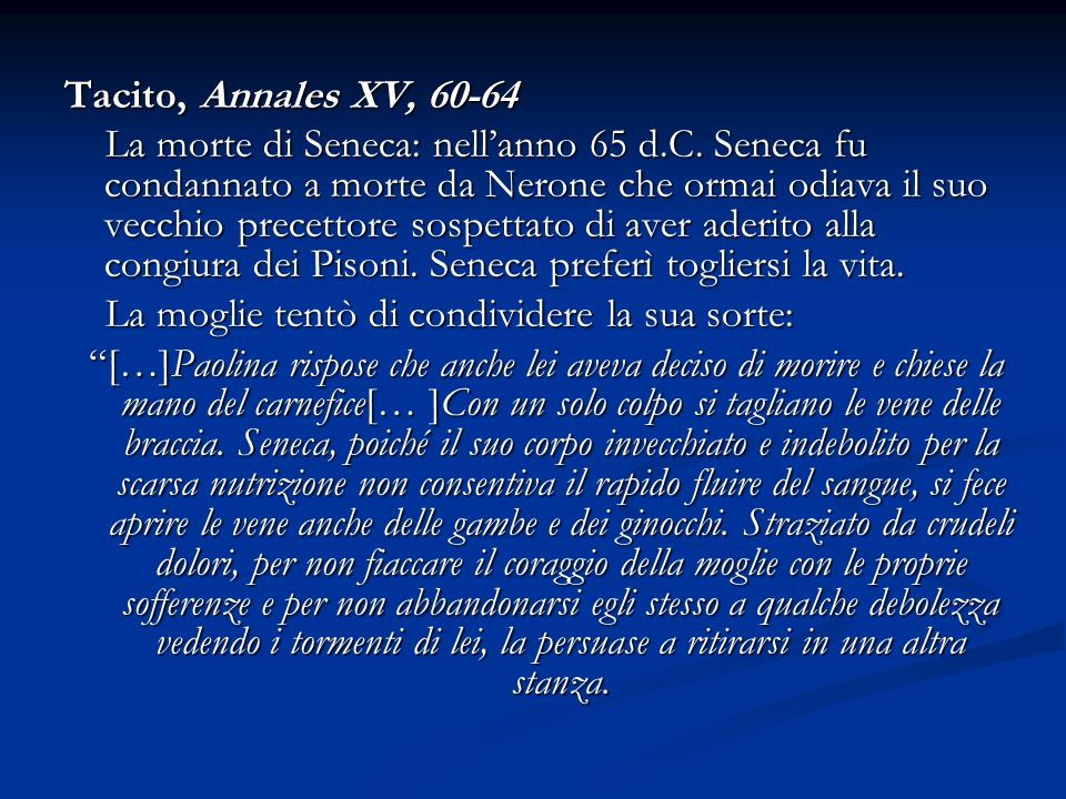 Tacito, Annales XV, 60-64