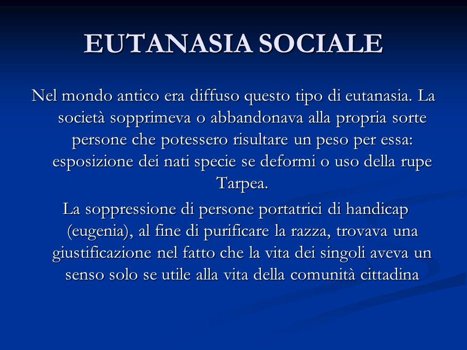 EUTANASIA SOCIALE