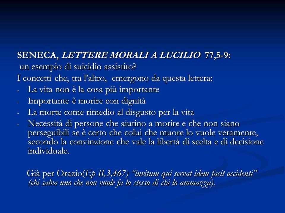 SENECA, LETTERE MORALI A LUCILIO 77,5-9: