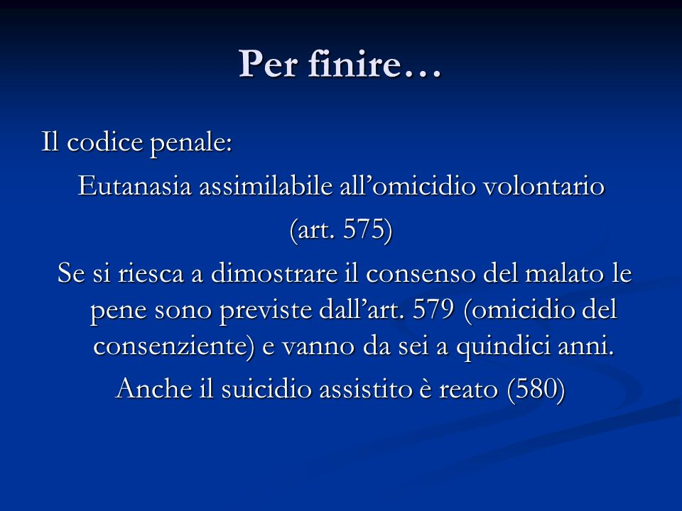 Per finire… Il codice penale: