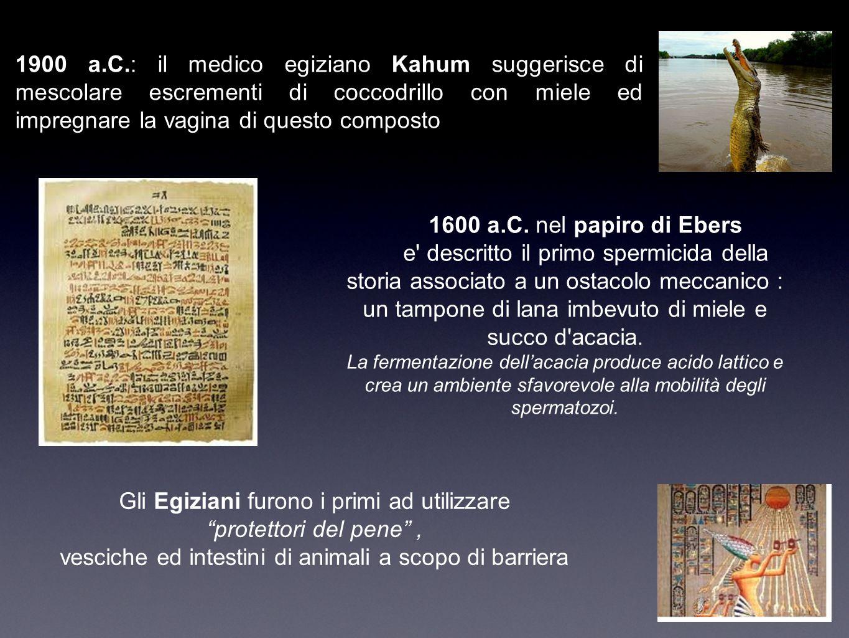 Gli Egiziani furono i primi ad utilizzare protettori del pene ,