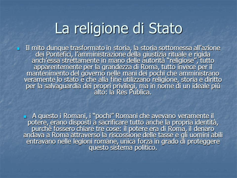 La religione di Stato