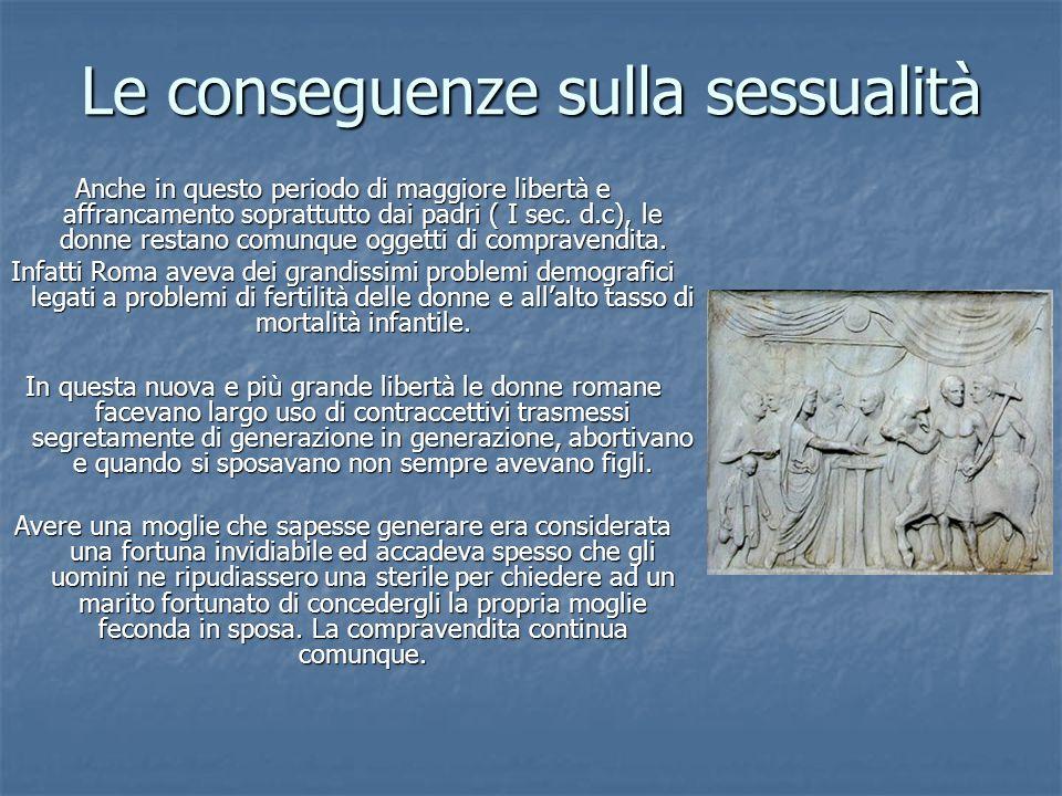 Le conseguenze sulla sessualità