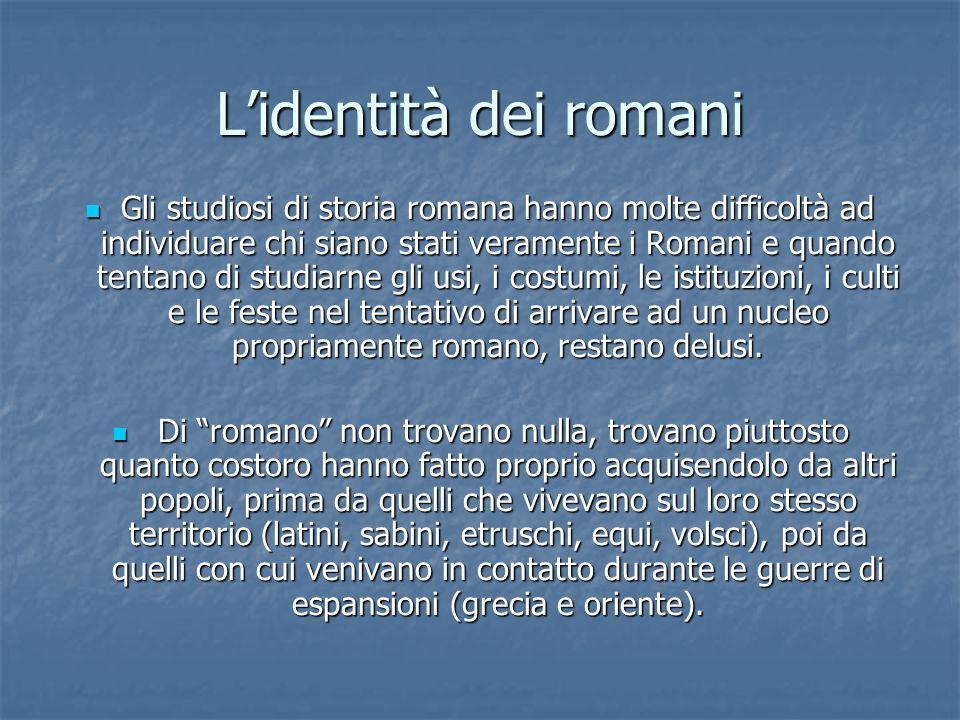L'identità dei romani