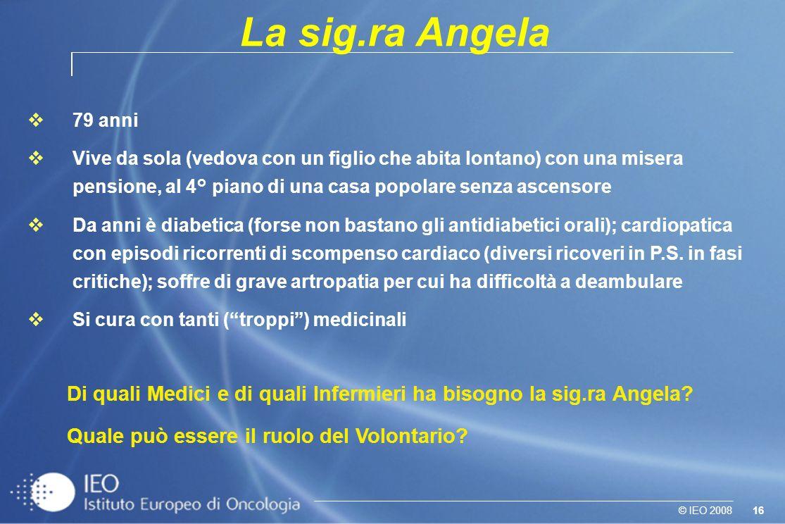 La sig.ra Angela 79 anni.