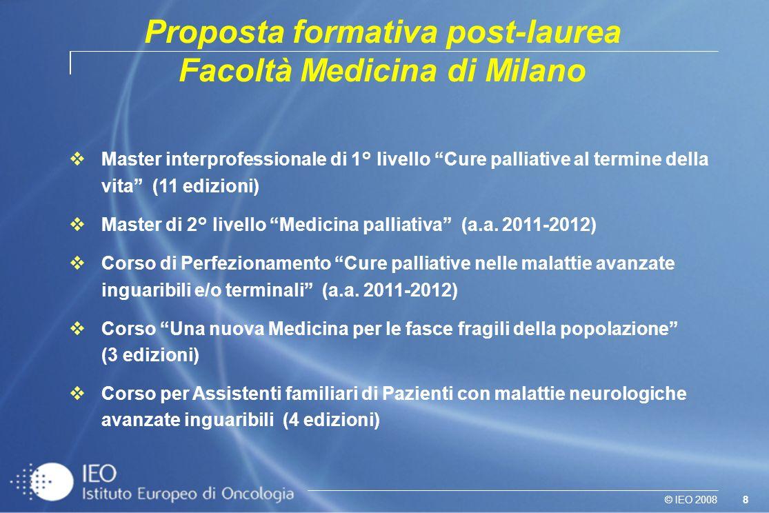 Proposta formativa post-laurea Facoltà Medicina di Milano