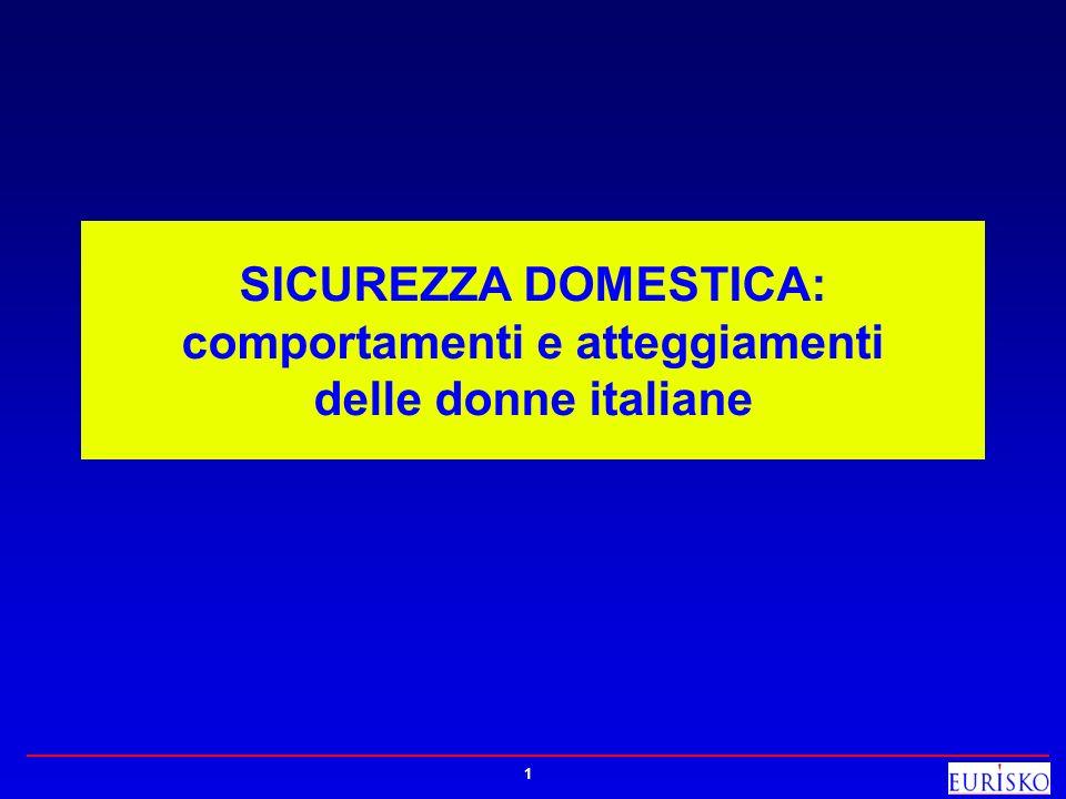 SICUREZZA DOMESTICA: comportamenti e atteggiamenti delle donne italiane