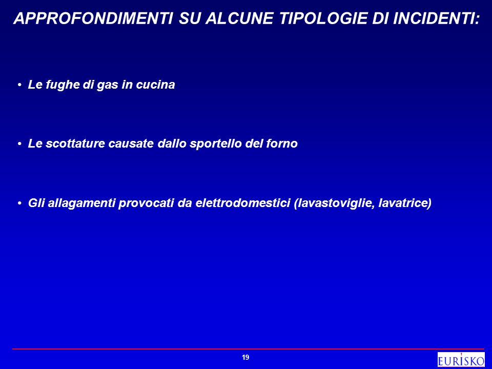 APPROFONDIMENTI SU ALCUNE TIPOLOGIE DI INCIDENTI: