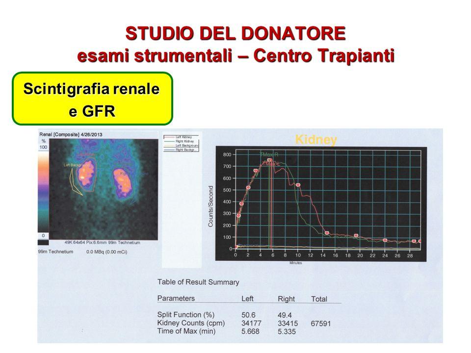 STUDIO DEL DONATORE esami strumentali – Centro Trapianti