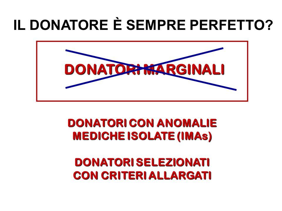 IL DONATORE È SEMPRE PERFETTO MEDICHE ISOLATE (IMAs)