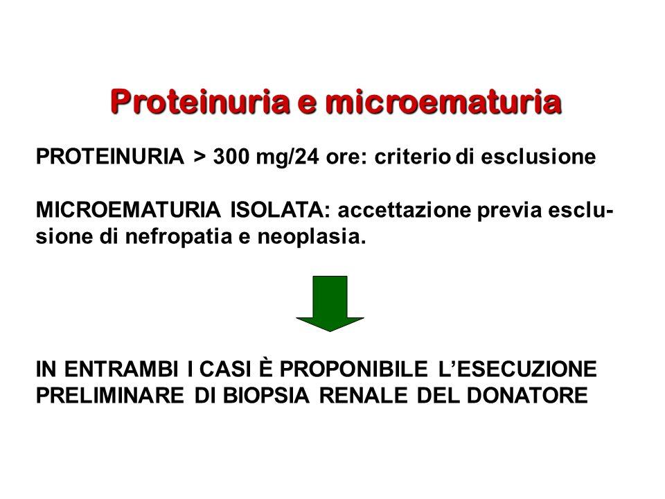 Proteinuria e microematuria