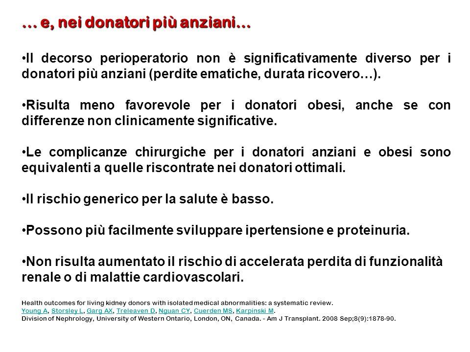 ... e, nei donatori più anziani…