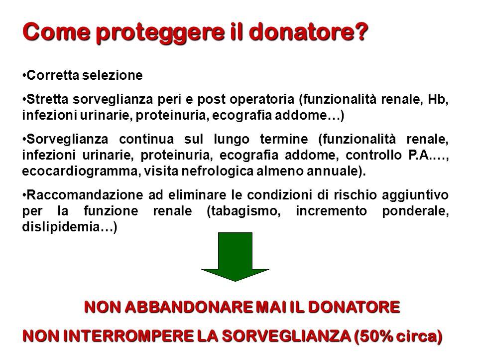 Come proteggere il donatore