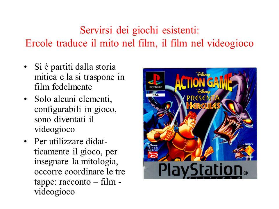 Servirsi dei giochi esistenti: Ercole traduce il mito nel film, il film nel videogioco