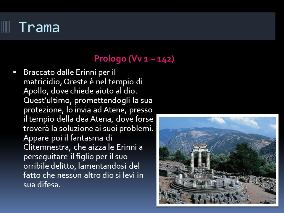 Trama Prologo (Vv 1 – 142)