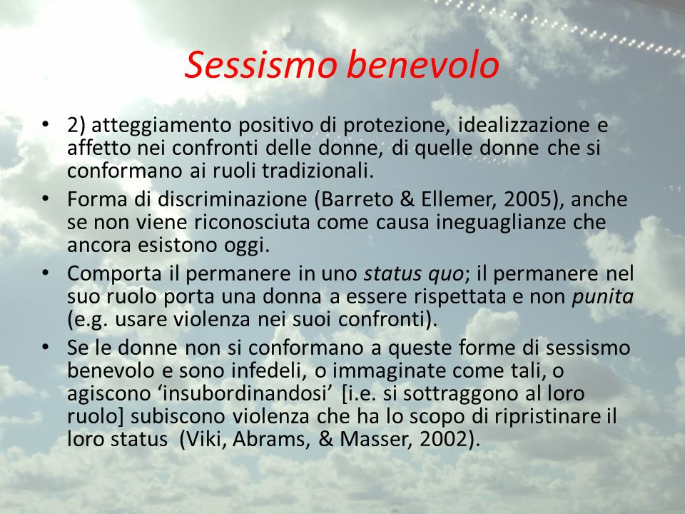 Sessismo benevolo