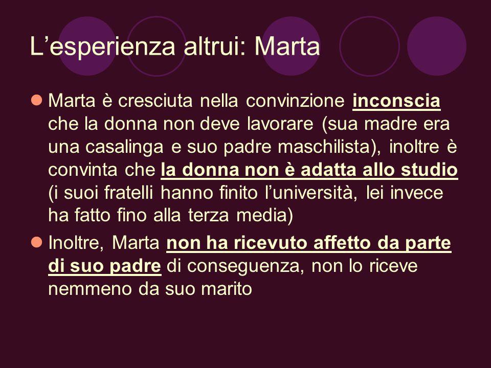 L'esperienza altrui: Marta