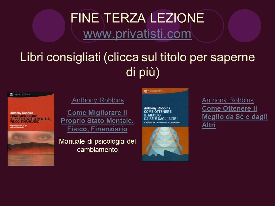 FINE TERZA LEZIONE www.privatisti.com
