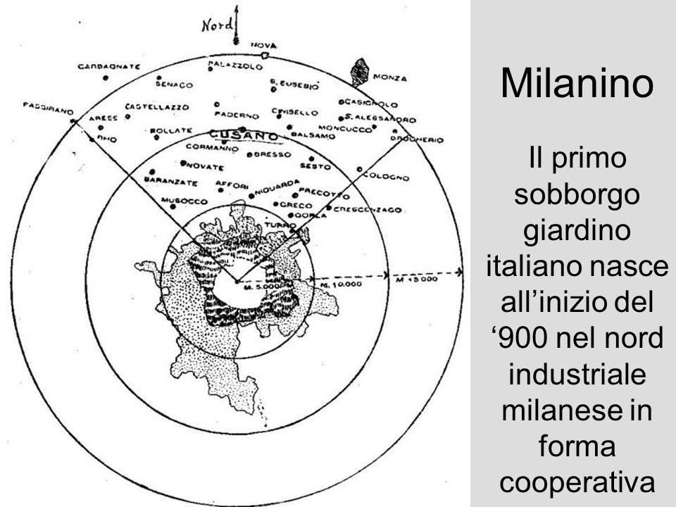Milanino Il primo sobborgo giardino italiano nasce all'inizio del '900 nel nord industriale milanese in forma cooperativa.